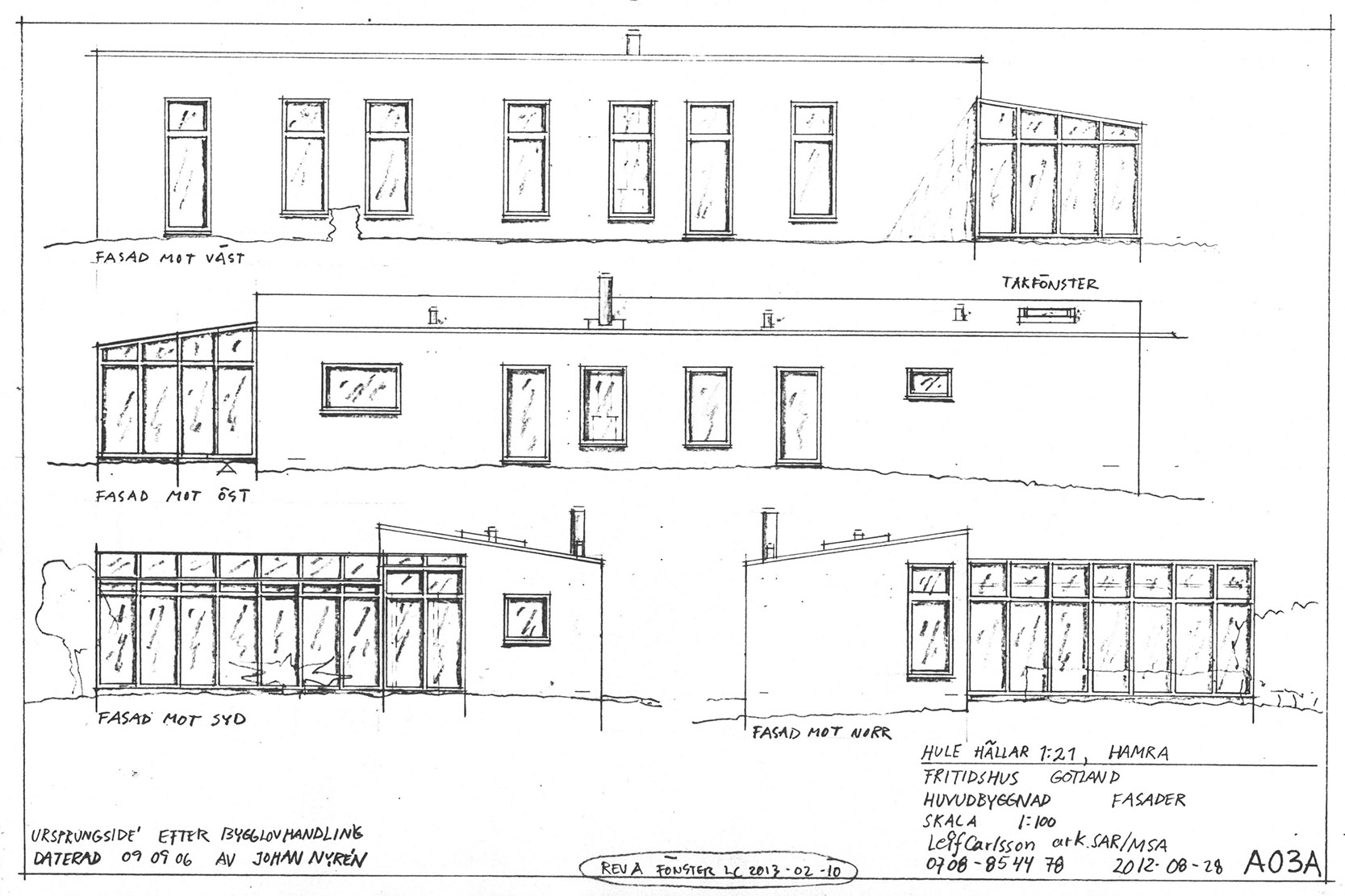 Hulehällar 1 21 fasader